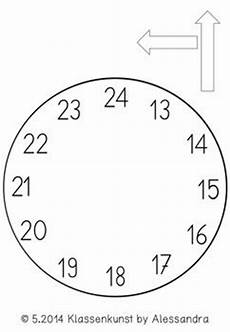 Uhr Vorlage - bastelvorlage uhr clock template clock template