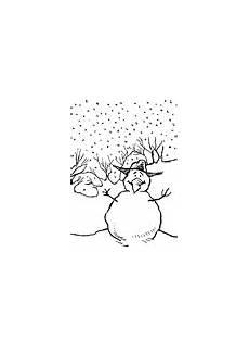 malvorlage schneemann und schneefrau kostenlose