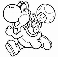yoshi and toad coloring picture mario coloring