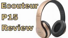 Ecouteur Sans Fil P15 Pliable Avec Microphone Bluetooth Fm