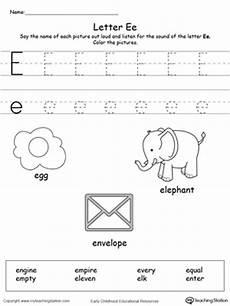 letter e beginning sounds worksheets 24099 letter e alphabet flash cards for preschoolers myteachingstation