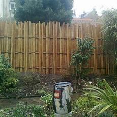 palissades en bambou palissade en bambou de jardin contemporain ou japonais