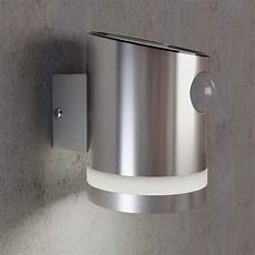 stainless steel outdoor solar powered truro solar motion wall light