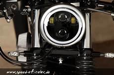 led scheinwerfer 5 75 zoll typ2 f 252 r harley davidson