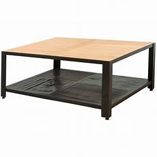 table basse carrée industrielle neka table basse carr 233 e style industriel en bois teck