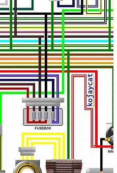 honda cbr400rr k nc23 1989 uk spec colour wiring loom diagram