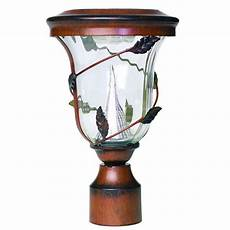 gama sonic flora solar bronze outdoor light with 3 in fitter gs 113f the