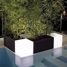vasi colorati per piante cubo luminoso da giardino ed interno modus light nicoli