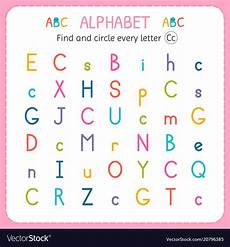 finding letter c worksheets 24054 find and circle every letter c worksheet for vector image
