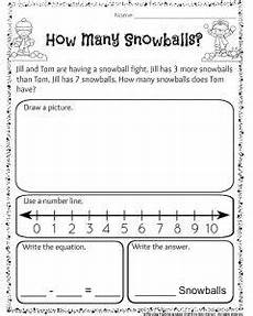 free word problem worksheets for 1st grade 11206 1st grade december math and literacy worksheets word problems literacy worksheets math story