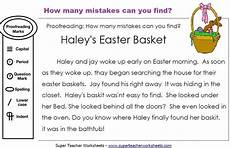 capitalization and punctuation editing worksheets 20756 easter editing activity how many mistakes can you find in this paragrap reading