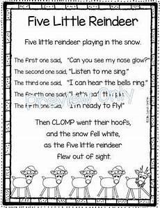 five reindeer poem for