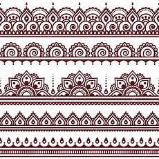 mehndi indische henna braun nahtlose muster