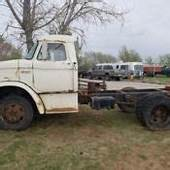 Classic 1955 Ford F600 Cabover With 1979 Dodge Ramp Truck