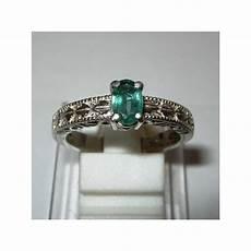 Jual Cincin Silver Emerald Ring 7 5 Us Untuk Wanita