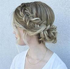 side hairstyles for medium length hair 50 amazing updos for medium length hair fishtail brides