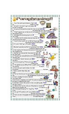 english worksheet more practice paraphrasing for upper intermediate students school