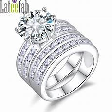lateefah big victorian wedding ring for white gold color large stone bridal jewelry