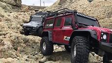 traxxas land rover traxxas trx 4 landrover defender 110 rock crawling at