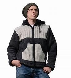 herren strickjacke wolljacke mit fleecefutter und