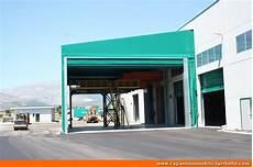 capannoni in telo foto tunnel mobili laterali in telo pvc