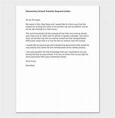 school transfer letter how to write format sle letters