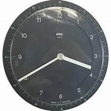 braun abw 41 mid century wall clock dietrich lubs