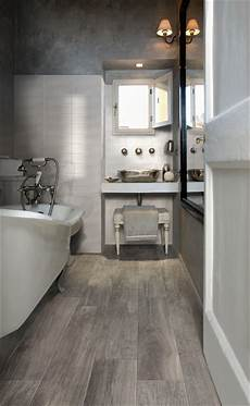 Wood Wood Look Porcelain Contemporary Bathroom