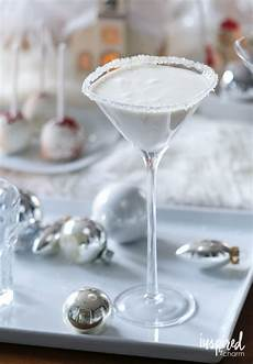 white christmas martini holiday cocktail martini recipe