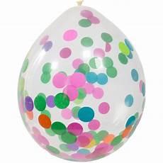 ballons mit konfetti ballons mit buntem konfetti 30 cm 4 st 252 ck