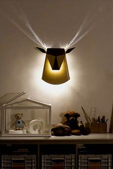 Deer Shaped Wall L With Cool Antlers Light Effect