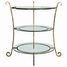 etagere metal three tier glass and gilt metal 201 tag 232 re server or stand