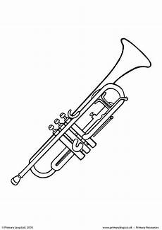 primaryleap co uk trumpet colouring page worksheet