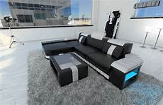 sofa led modern sofa bellagio led l shaped black white ebay