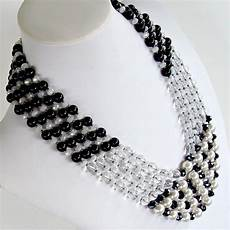 Black White Statement eclipse 25 quot black and white statement necklace earth