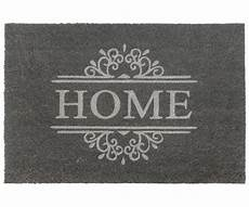 classic grey home large vinyl backed doormat