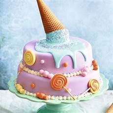 Kuchen Mit Fondant - motivtorte mit rosa fondant und eiswaffel rezept