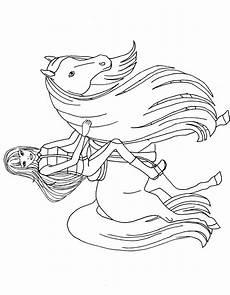 Ausmalbilder Pferde Reiterin Reiterin Mit Pferd Ausmalbilder Ausmalen Reiten