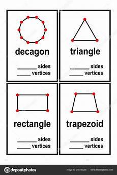shapes of distributions worksheets 1079 count sides vertices shapes worksheet preschool vector illustration stock vector