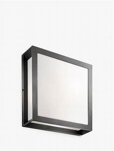 philips ecomoods skies flush outdoor light black at lewis partners