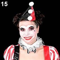 clown frau schminken faschings schminktipp harlekina clown make up