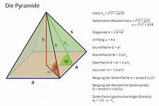 wie berechnet eine quadratische pyramide gegeben mit