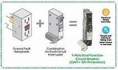 combination arc fault circuit breaker dual function arc fault gfci circuit breaker jade