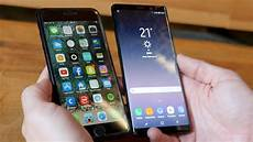 galaxy note 8 vs iphone 7 plus im test vergleich 2017