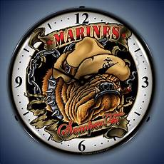 Inch Bulldog Wall Clock marines bulldog wall clock led lighted