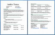 cv two pages exle