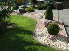 Gartengestaltung Mit Steinen Und Kies Bilder - vorgartengestaltung mit kies 15 vorgarten ideen