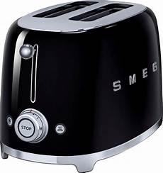 smeg 2 scheiben toaster tsf01bleu 950 watt schwarz