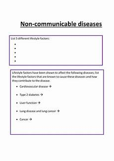 non communicable diseases gsce biology by lousmith94 teaching resources