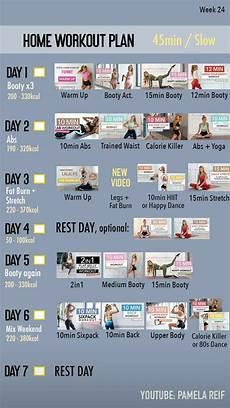 pamela reif week 24 in 2020 intense workout plan at